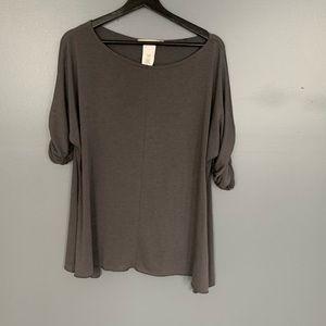 Ensemble Rouched Blouse Grey Size M